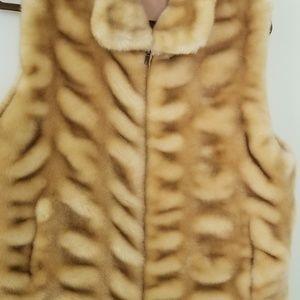 Brooks brothers Faux fur Jacket vest for women